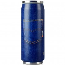 Lata inox Blue Jean 500ml